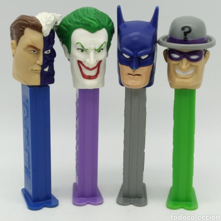 DISPENSADORES PEZ, SERIE COMPLETA BATMAN DC COMICS AÑO 2008 (Juguetes - Figuras de Gomas y Pvc - Dispensador Pez)
