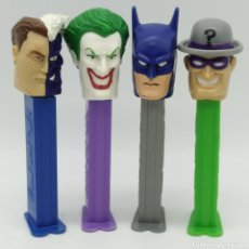 Dispensador Pez: DISPENSADORES PEZ, SERIE COMPLETA BATMAN DC COMICS AÑO 2008. Lote 193267930