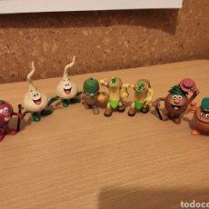 Figuras de Goma y PVC: LOTE FIGURAS PVC LOS FRUITTIS - COMICS SPAIN D'OCON FILMS - SERIE DIBUJOS ANIMADOS FRUITIS GOMA. Lote 193268341