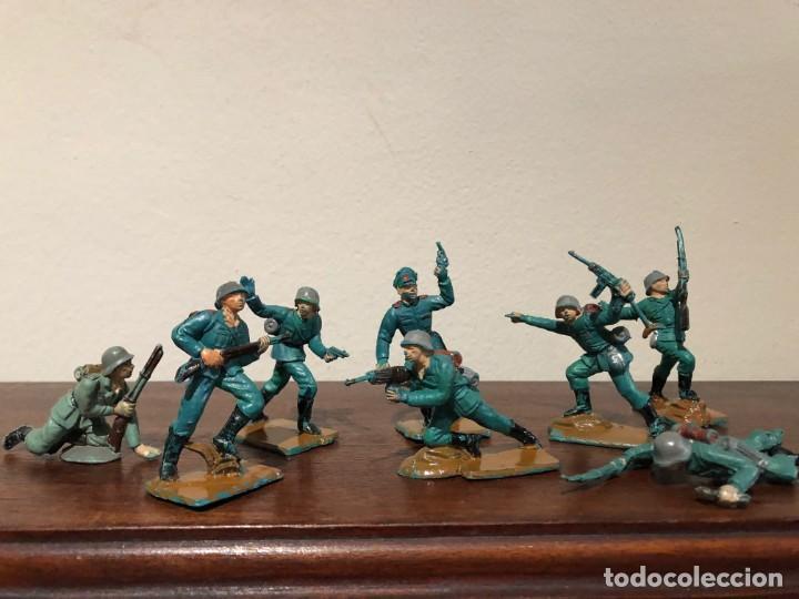 LOTE DE 8 SOLDADOS ALEMANES DE LA SEGUNDA GUERRA MUNDIA. PECH. NO JECSAN. NO REAMSA (Juguetes - Figuras de Goma y Pvc - Pech)