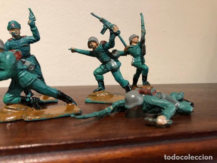 Figuras de Goma y PVC: Lote de 8 soldados alemanes de la Segunda Guerra Mundia. Pech. No Jecsan. No Reamsa - Foto 3 - 193281060
