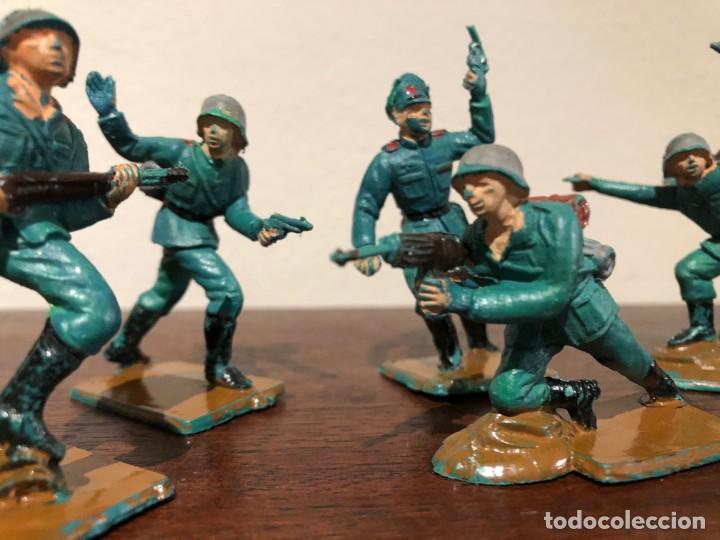 Figuras de Goma y PVC: Lote de 8 soldados alemanes de la Segunda Guerra Mundia. Pech. No Jecsan. No Reamsa - Foto 4 - 193281060