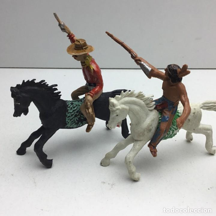 Figuras de Goma y PVC: ANTIGUOS VAQUEROS DEL OESTE - PECH, JECSAN, REAMSA, TEIXIDO, OLIVER, COMANSI - Foto 4 - 193298271
