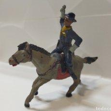 Figuras de Goma y PVC: JECSAN DESCABEZADOS YANKEE A CABALLO. Lote 193322617