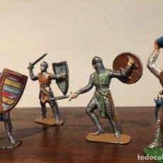 Figuras de Goma y PVC: LOTE 6 FIGURAS CRUZADOS JECSAN .AÑOS 60-70. NO REAMSA, NO PECH. Lote 193652830