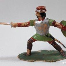 Figuras de Borracha e PVC: GUERRERO ESPAÑOL . FIGURA REAMSA Nº 379 . SERIE HERNAN CORTES . ORIGINAL AÑOS 60. Lote 193668312