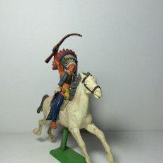 Figuras de Goma y PVC: FIGURA INDIO A CABALLO BRITAINS 1971 5. Lote 193684711