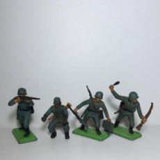 Figuras de Goma y PVC: LOTE 4 FIGURAS SOLDADOS ALEMANES 2ª GUERRA MUNDIAL BRITAINS 1971 7. Lote 193685045