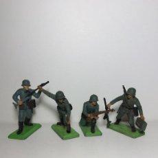 Figuras de Goma y PVC: LOTE 4 FIGURAS SOLDADOS ALEMANES 2ª GUERRA MUNDIAL BRITAINS 1971 9. Lote 193685541