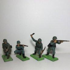 Figuras de Goma y PVC: LOTE 4 FIGURAS SOLDADOS ALEMANES 2ª GUERRA MUNDIAL BRITAINS 1971 10. Lote 193685733
