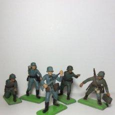 Figuras de Goma y PVC: LOTE 5 FIGURAS SOLDADOS ALEMANES 2ª GUERRA MUNDIAL BRITAINS 1971 13. Lote 193695350