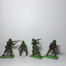 Figuras de Goma y PVC: LOTE 4 FIGURAS SOLDADOS AMERICANOS 2ª GUERRA MUNDIAL BRITAINS 1971 14. Lote 193695735