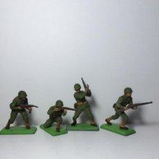 Figuras de Goma y PVC: LOTE 4 FIGURAS SOLDADOS AMERICANOS 2ª GUERRA MUNDIAL BRITAINS 1971 15. Lote 193698598
