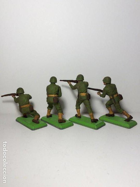 Figuras de Goma y PVC: LOTE 4 FIGURAS SOLDADOS AMERICANOS 2ª GUERRA MUNDIAL BRITAINS 1971 16 - Foto 2 - 193699041