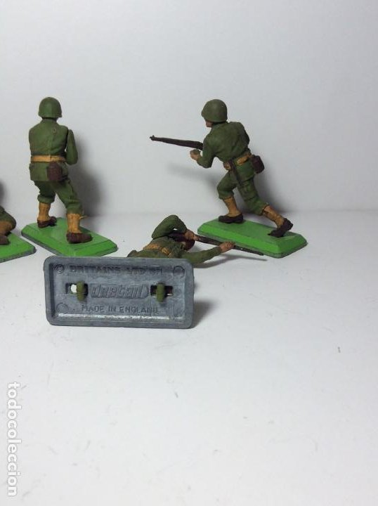 Figuras de Goma y PVC: LOTE 4 FIGURAS SOLDADOS AMERICANOS 2ª GUERRA MUNDIAL BRITAINS 1971 16 - Foto 3 - 193699041