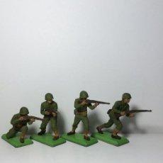 Figuras de Goma y PVC: LOTE 4 FIGURAS SOLDADOS AMERICANOS 2ª GUERRA MUNDIAL BRITAINS 1971 16. Lote 193699041
