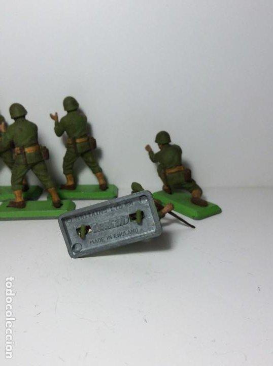 Figuras de Goma y PVC: LOTE 5 FIGURAS SOLDADOS AMERICANOS 2ª GUERRA MUNDIAL BRITAINS 1971 17 - Foto 3 - 193699128