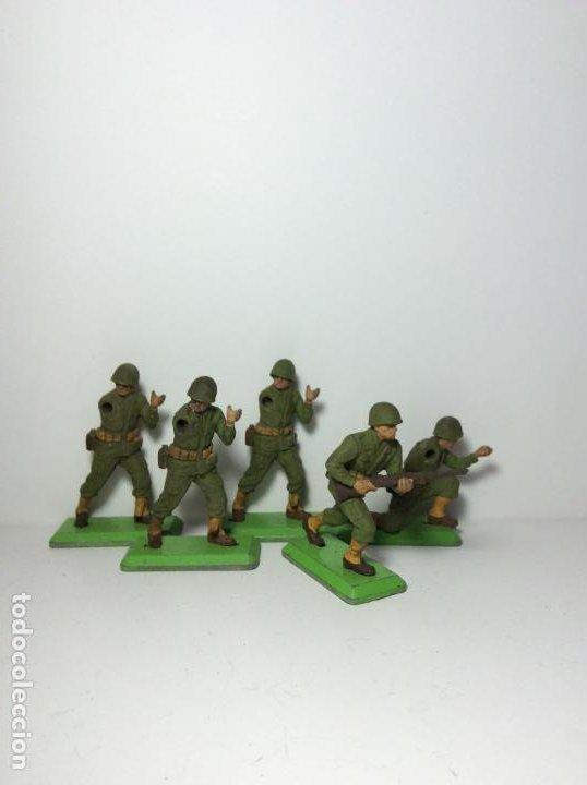 LOTE 5 FIGURAS SOLDADOS AMERICANOS 2ª GUERRA MUNDIAL BRITAINS 1971 17 (Juguetes - Figuras de Goma y Pvc - Britains)