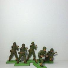Figuras de Goma y PVC: LOTE 5 FIGURAS SOLDADOS AMERICANOS 2ª GUERRA MUNDIAL BRITAINS 1971 17. Lote 193699128