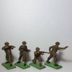 Figuras de Goma y PVC: LOTE 4 FIGURAS SOLDADOS INGLESES 2ª GUERRA MUNDIAL BRITAINS 1971 18. Lote 193700020