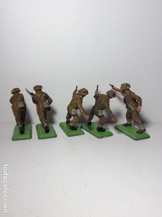 Figuras de Goma y PVC: LOTE 5 FIGURAS SOLDADOS INGLESES 2ª GUERRA MUNDIAL BRITAINS 1971 19 - Foto 2 - 193700188