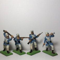 Figuras de Goma y PVC: LOTE 4 FIGURAS SOLDADOS LEGION FRANCESA 2ª GUERRA MUNDIAL BRITAINS 1971 20. Lote 193700627