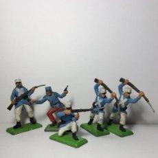 Figuras de Goma y PVC: LOTE 5 FIGURAS SOLDADOS LEGION FRANCESA 2ª GUERRA MUNDIAL BRITAINS 1971 21. Lote 193700835