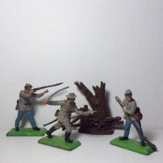 Figuras de Goma y PVC: LOTE 4 FIGURAS OESTE YANKEE SUDISTAS BRITAINS 1971 24. Lote 193701632