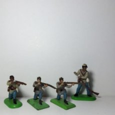 Figuras de Goma y PVC: LOTE 4 FIGURAS OESTE YANKEE SUDISTAS BRITAINS 1971 25. Lote 193701773