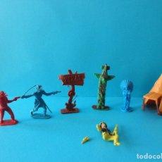 Figuras de Goma y PVC: VARIDO LOTE COMANSI. INDIOS, VAQUEROS Y ACCESORIOS. JINETE CARTWRIGTH - BONANZA. Lote 193731442