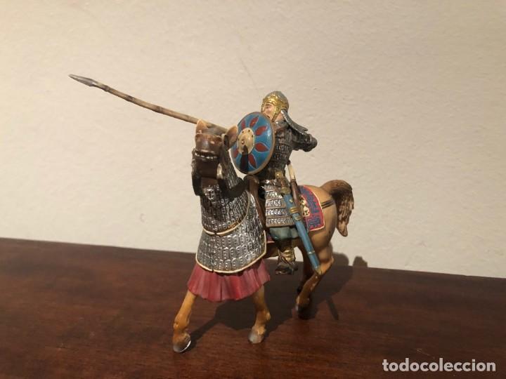 Figuras de Goma y PVC: Guerrero mongol Scleich. Nómadas estepas. Khan - Foto 2 - 193832047
