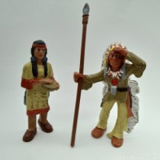 Figuras de Goma y PVC: PAREJA DE INDIOS DE BULLYLAND - BULLY. Lote 193857872