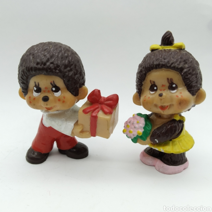 PAREJA DE MONCHICHI DE BULLYLAND MONCHHICHI (Juguetes - Figuras de Goma y Pvc - Bully)