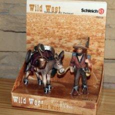Figuras de Goma y PVC: SCHLEICH - WILD WEST - BUSCADOR DE ORO CON BURRO - NUEVO A ESTRENAR - 70310 - OESTE. Lote 210529713