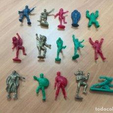 Figuras de Goma y PVC: 15 FIGURAS DUNKIN SERIE MARVEL. BOLLOS SPIDERMAN. PREMIUM, TEMATICA. PANRICO. Lote 160831534