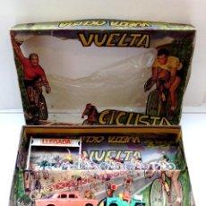 Figuras de Goma y PVC: CAJA MARIANO SOTORRES AÑOS 60,VUELTA CICLISTA REF.2281.SIMIL,REAMSA,COMANSI,PECH.. Lote 193970746