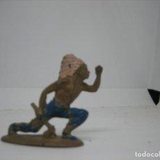 Figuras de Goma y PVC: REAMSA INDIO EN GOMA. Lote 194013027