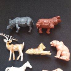 Figuras de Goma y PVC: ANTIGUAS FIGURAS DE ANIMALES EN PLÁSTICO. MADE IN HONG KONG. Lote 194029433
