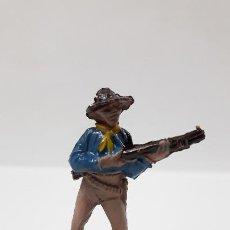 Figuras de Goma y PVC: VAQUERO - COWBOY CON RIFLE . REALIZADO POR JECSAN . SERIE PEQUEÑA . AÑOS 50 EN GOMA. Lote 194079931