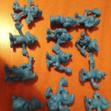 Figuras de Goma y PVC: 15 FIGURAS TIPO DUNKI DE PANRICO PITUFOS. Lote 194082035