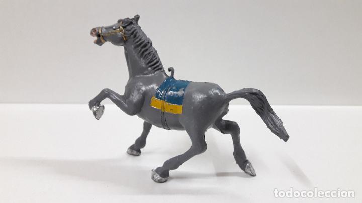 Figuras de Goma y PVC: CABALLO GRIS . REALIZADO POR ESTEREOPLAST . ORIGINAL AÑOS 60 - Foto 4 - 194108456