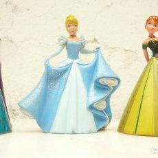 Figuras de Goma y PVC: PRINCESA DISNEY BULLYLAND. LOTE DE 3: CENICIENTA Y ANNA Y ELSA DE FROZEN . Lote 194121970