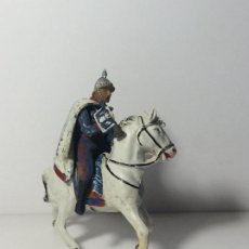 Figurines en Caoutchouc et PVC: FIGURA A CABALLO CORNETA GUARDIA DEL GENERALISIMO DESFILE EN GOMA 2. Lote 194128578