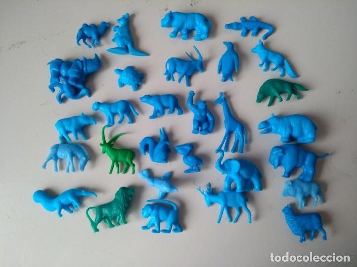 IÑI LOTE 30 FIGURAS PLÁSTICO. DUNKIN. SERIE: FIERAS DEL ZOO. 1967. COMPLETA. ANIMALES.DELTA.ZZZ (Juguetes - Figuras de Goma y Pvc - Dunkin)