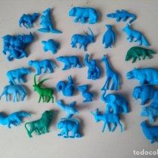 Figuras de Goma y PVC: IÑI LOTE 30 FIGURAS PLÁSTICO. DUNKIN. SERIE: FIERAS DEL ZOO. 1967. COMPLETA. ANIMALES.DELTA.. Lote 194218573