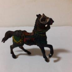 Figuras de Goma y PVC: FIGURA CABALLO MEDIEVAL EN GOMA REAMSA. Lote 194235372