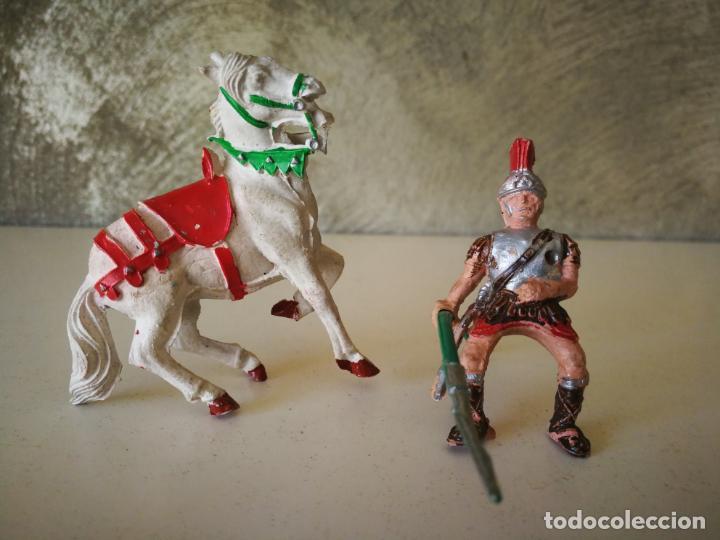 MUY RARO GLADIADOR ROMANO DE GOMA SERIE GLADIADORES LAFREDO 54 MM (Juguetes - Figuras de Goma y Pvc - Lafredo)