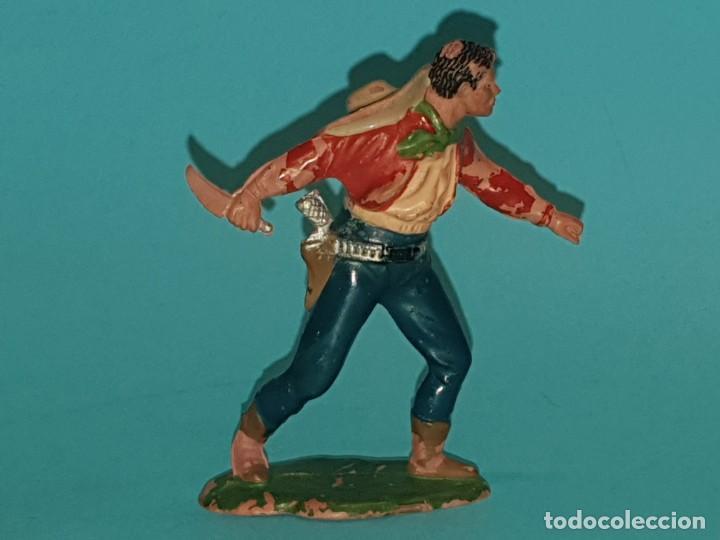 VAQUERO/COWBOY DE REAMSA, EN GOMA, AÑO 1953. (TIPO PECH, JECSAN, TEIXIDO) (Juguetes - Figuras de Goma y Pvc - Reamsa y Gomarsa)