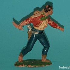 Figuras de Goma y PVC: VAQUERO/COWBOY DE REAMSA, EN GOMA, AÑO 1953. (TIPO PECH, JECSAN, TEIXIDO). Lote 194249898