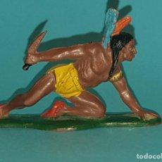 Figuras de Goma y PVC: INDIO EN GOMA DE TEIXIDO, AÑO 1958 (TIPO PECH, JECSAN, REAMSA) . Lote 194250281